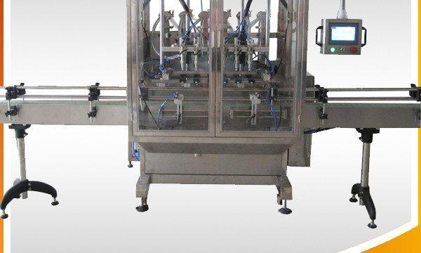 自動オーバーフロー重力ボトル液体充填機