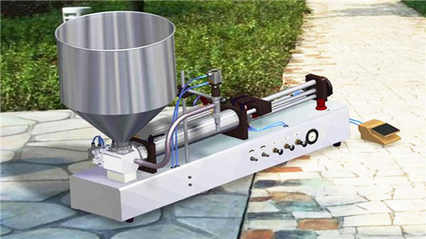 半自動洗剤液体充填機
