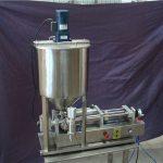 2ヘッド半自動液体充填機